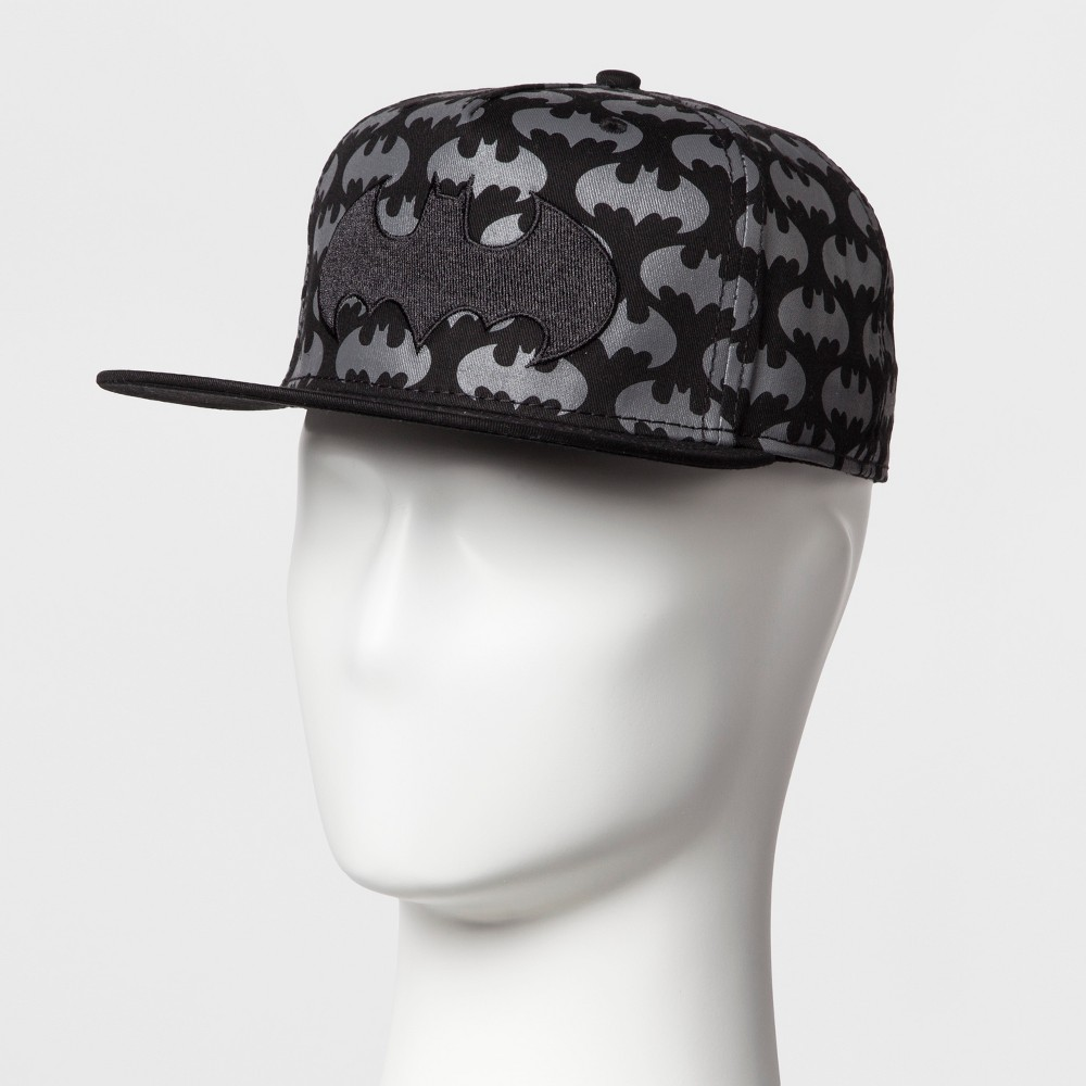 Mens Batman Logo Baseball Cap - Black One Size