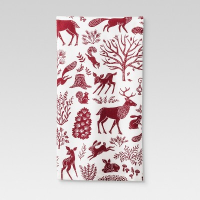 White Animal Print Kitchen Towel - Threshold™