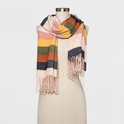 view Women's Scarf - A New Day Stripe on target.com. Opens in a new tab.