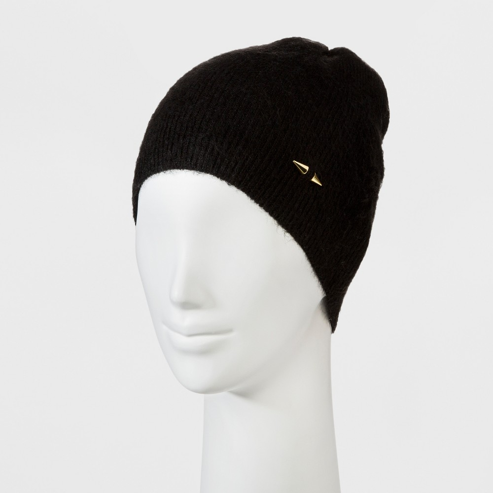 Womens Beanie with Pin - Mossimo Black