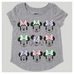 Toddler Girls' Minnie Mouse Short Sleeve T-Shirt - Heather Gray