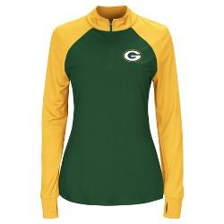 Green Bay Packers Women's Inspired Intensity Quarter Zip Pullover