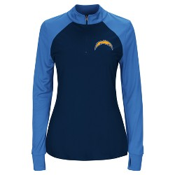 Los Angeles Chargers Women's Inspired Intensity Quarter Zip Pullover