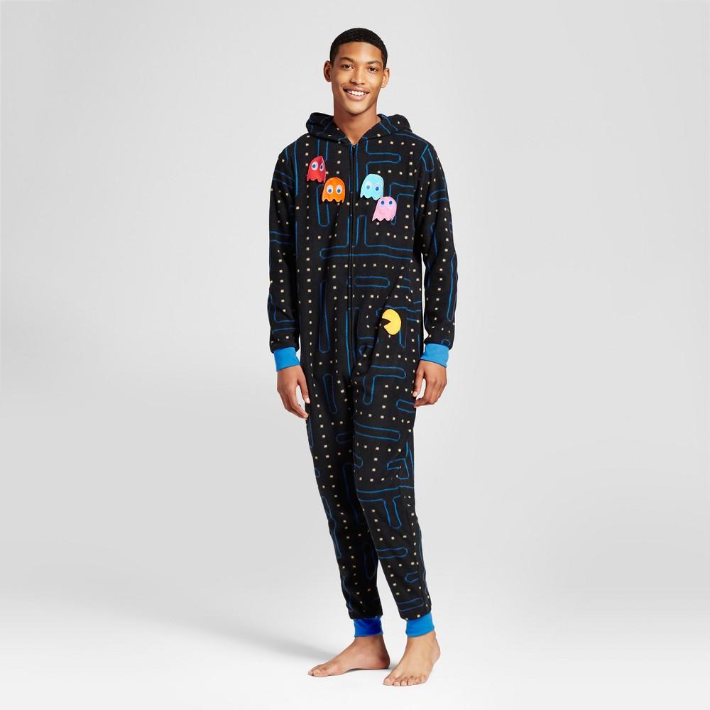Mens Pac-Man Union Suit - Black XL