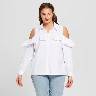 womens white collared shirt : Target
