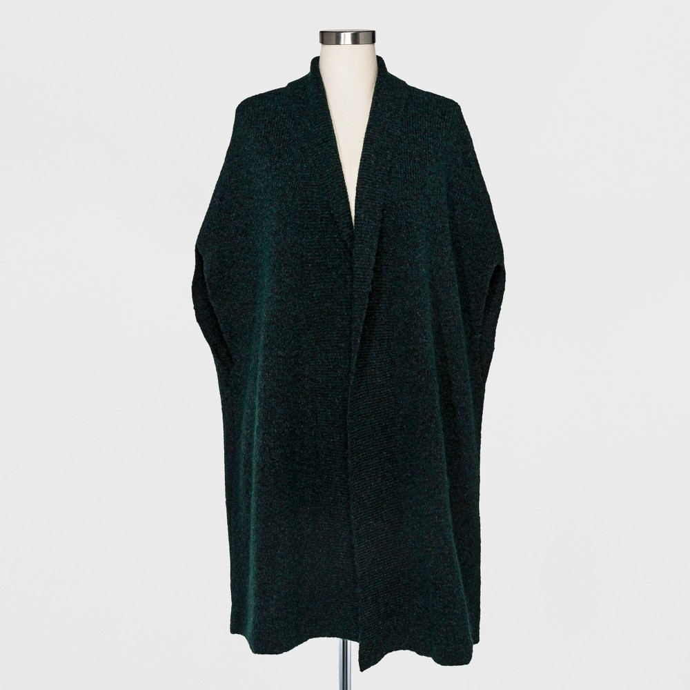 Womens Long Sweater Wrap - A New Day Green