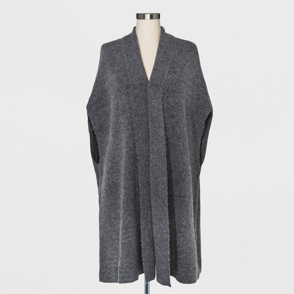 Womens Long Sweater Wrap - A New Day Gray