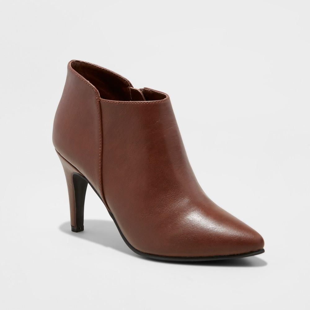 Womens Wide Width Tabby Heeled Dress Booties - Mossimo Black 10W, Size: 10 Wide, Brown