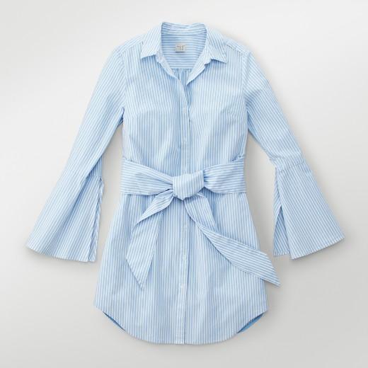 Women's Striped Shirt Dress - A New Day™ Light Blue : Target