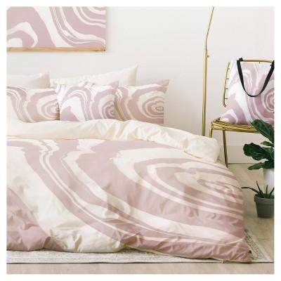 Pink Susanne Kasielke Marble Structure Duvet Cover Set (King)- Deny Designs®