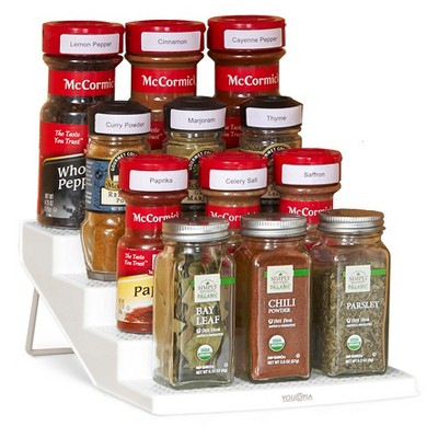 Spice Rack 12 Bottle Organizer White   YouCopia