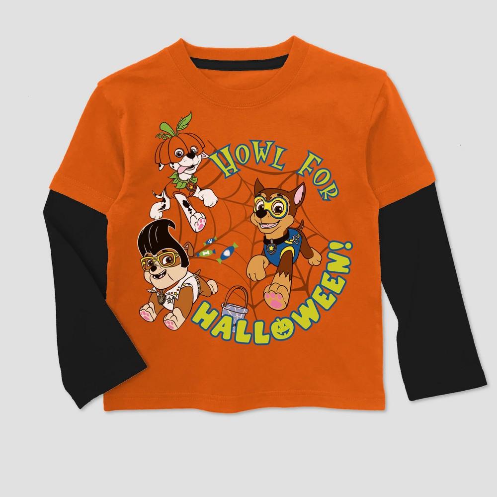 T-Shirt Paw Patrol Orange 4T, Toddler Boys