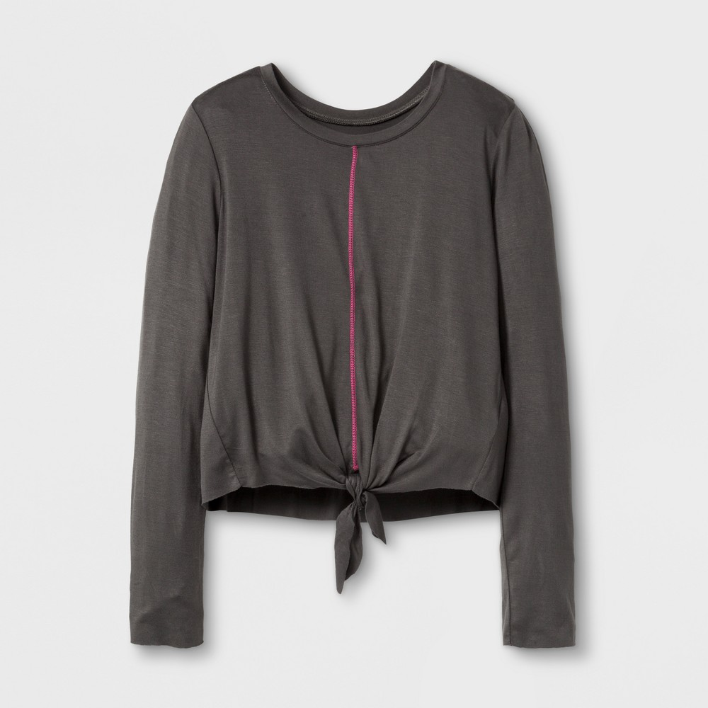 Girls Long Sleeve Graphic T-Shirt Art Class - Beluga XS, Gray