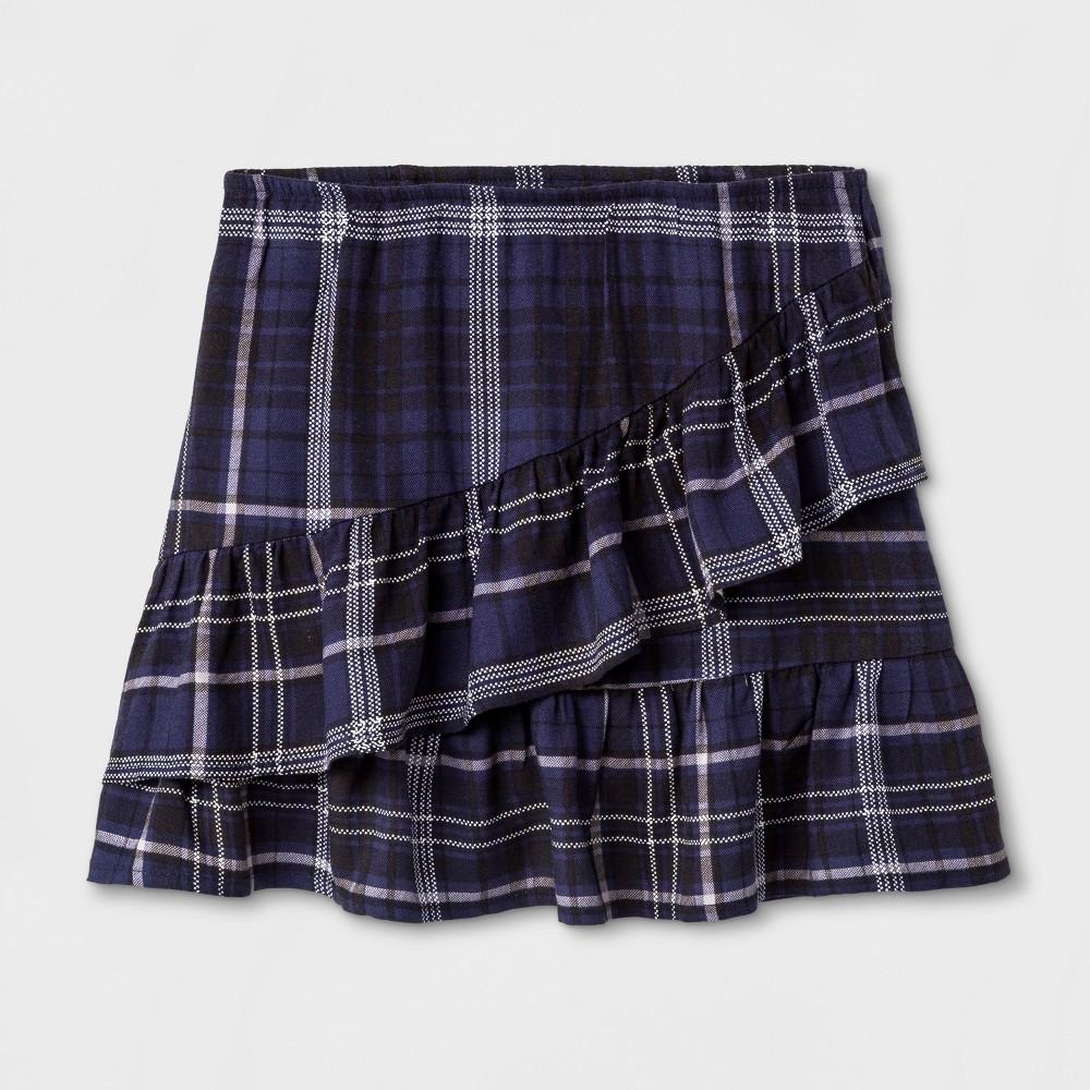 Girls Ruffle Mini Skirt Art Class - Peacoat XL, Blue