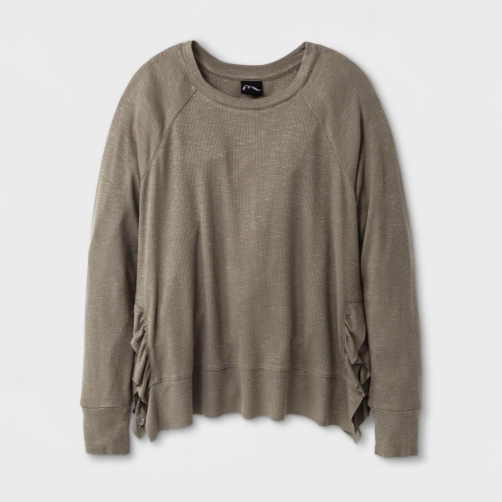 Girls Long Sleeve T-Shirt Art Class - Deep Lichen Green M