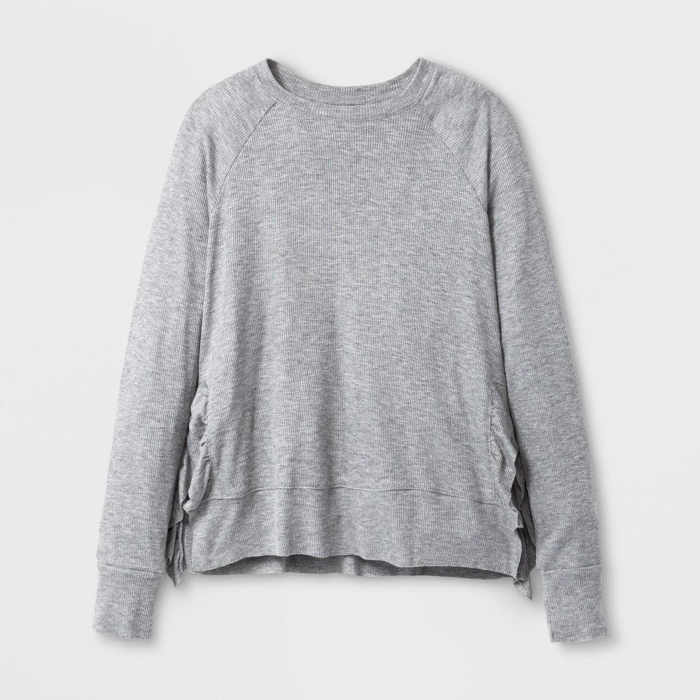 Girls Long Sleeve T-Shirt Art Class - Heather Gray M