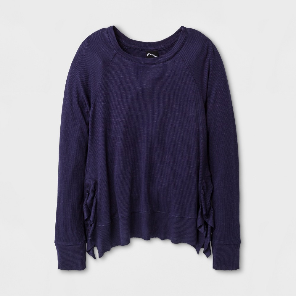 Girls Long Sleeve T-Shirt Art Class - Peacoat L