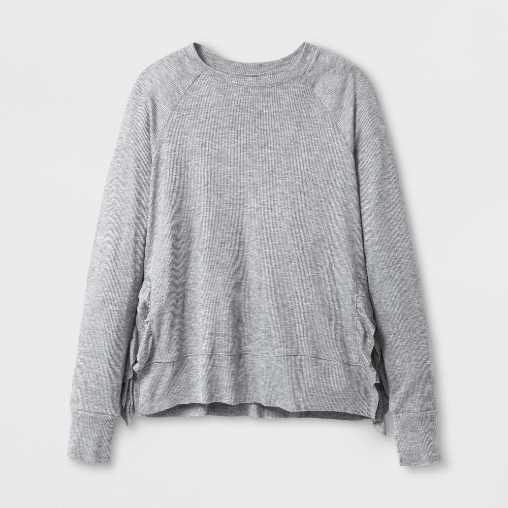 Girls Long Sleeve T-Shirt Art Class - Heather Gray L