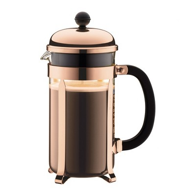 French Press Pot Chambord Coffee Copper - Bodum
