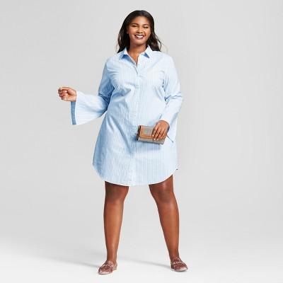 Women shirt dress plus size