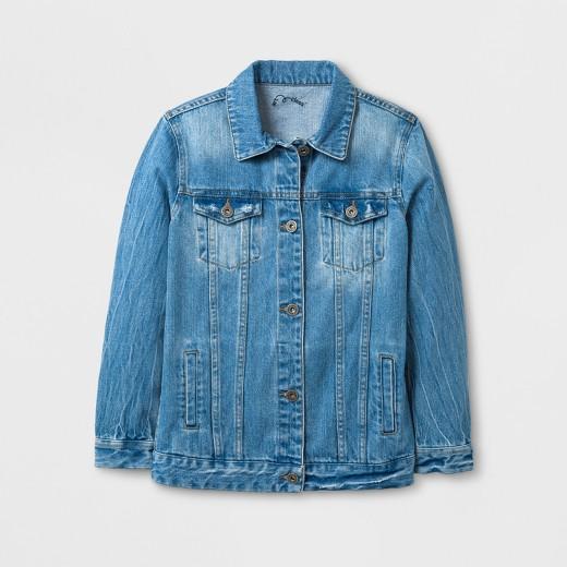Girls' Customizable Denim Jacket - Art Class™ Indigo : Target