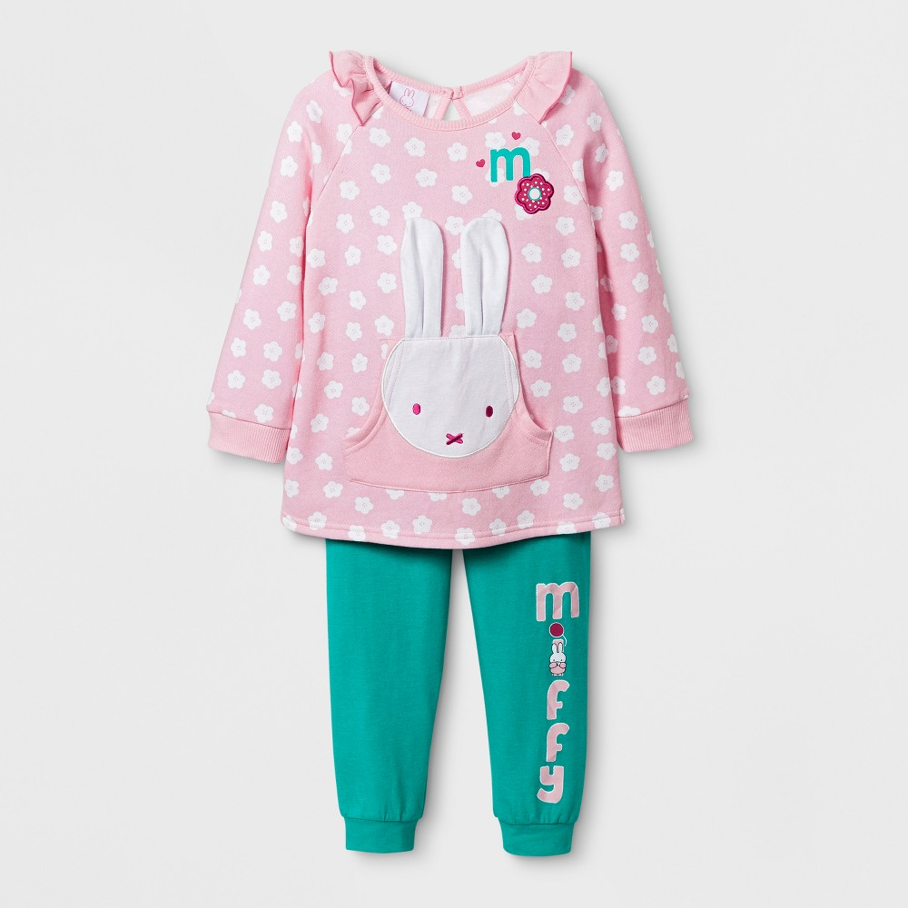 Toddler Girls Miffy and Friends Top and Bottom Set - 2T, Multicolored
