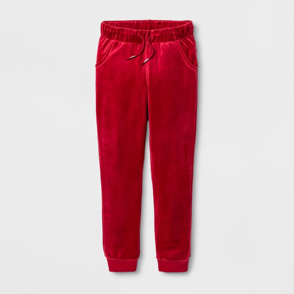 Girls Fleece Jogger Pants - Cat & Jack Red XL