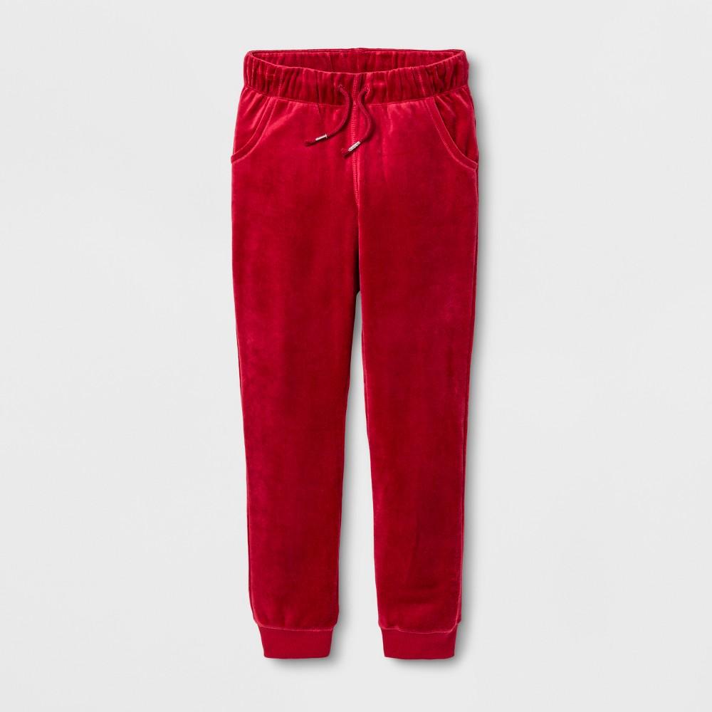 Girls Fleece Jogger Pants - Cat & Jack Red M