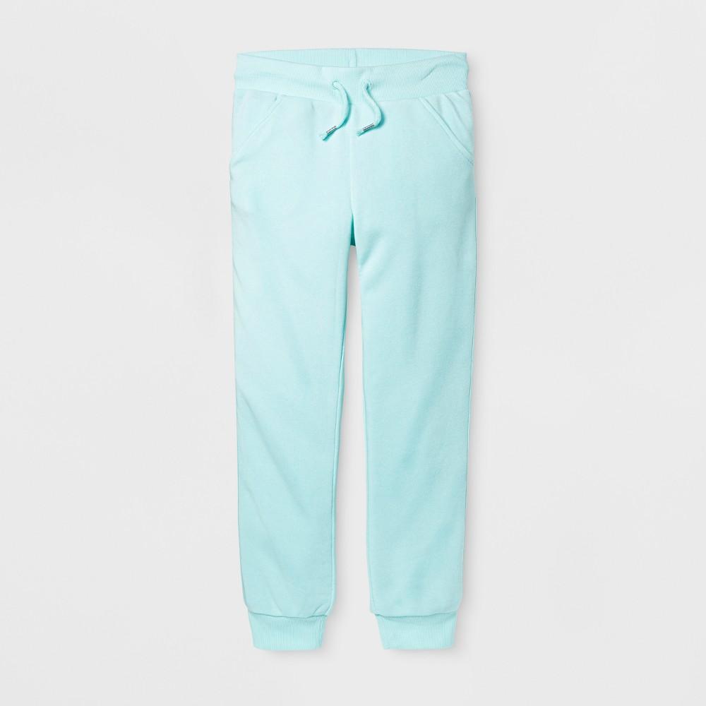 Girls Fleece Jogger Pants - Cat & Jack Aqua (Blue) XS
