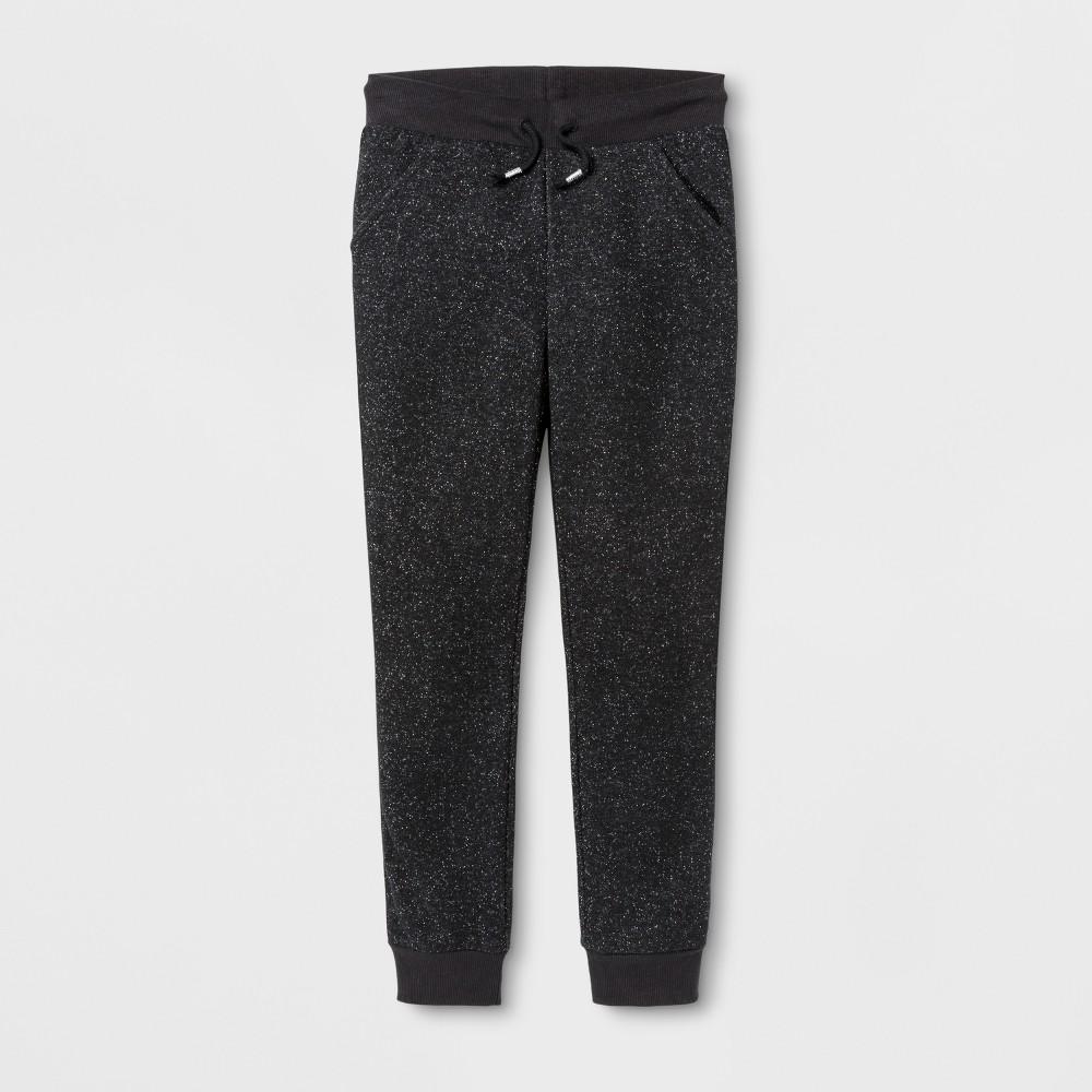 Girls Fleece Jogger Pants - Cat & Jack Black L