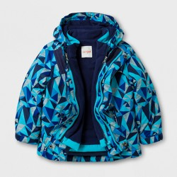 Toddler Boys' 3-in-1 Jacket - Cat & Jack™ Blue Print