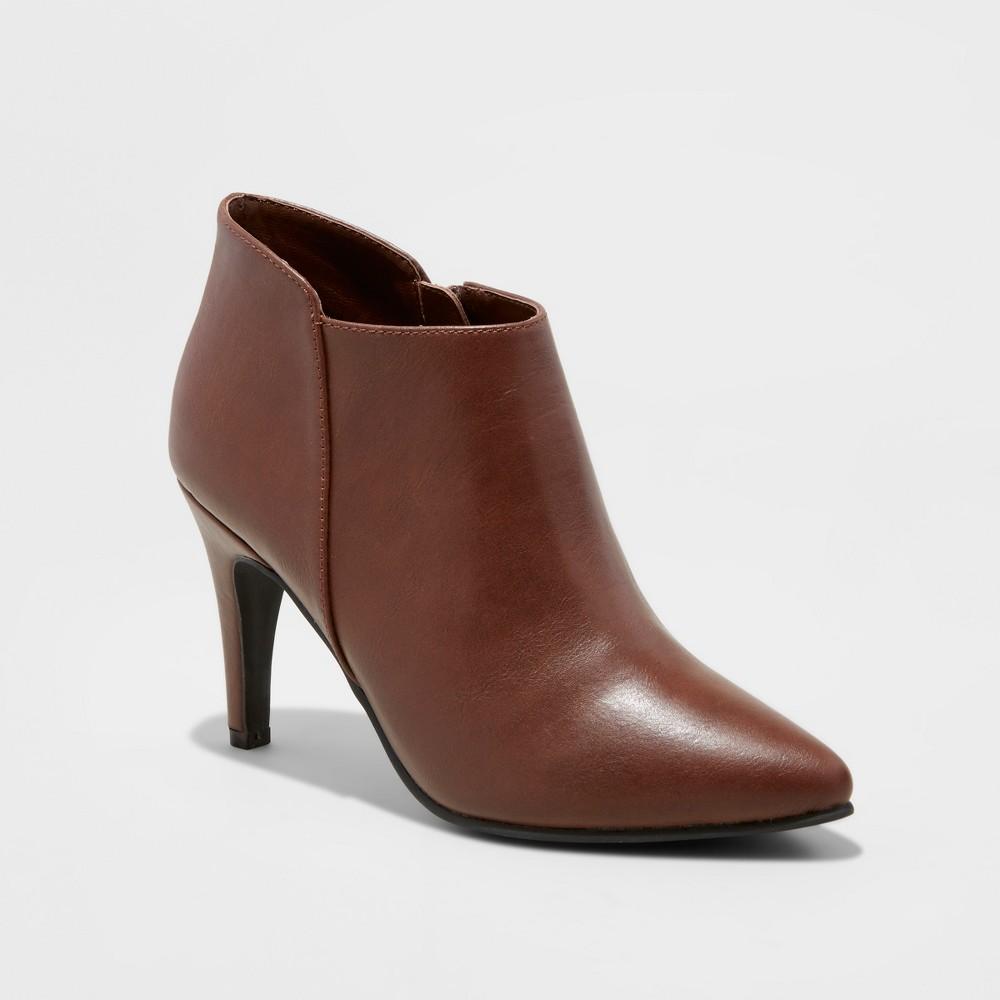 Womens Tabby Heeled Dress Booties - Mossimo Black, Size: 6, Brown
