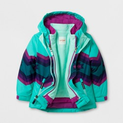 Toddler Girls' 3-in-1 Jacket - Cat & Jack™ Aqua