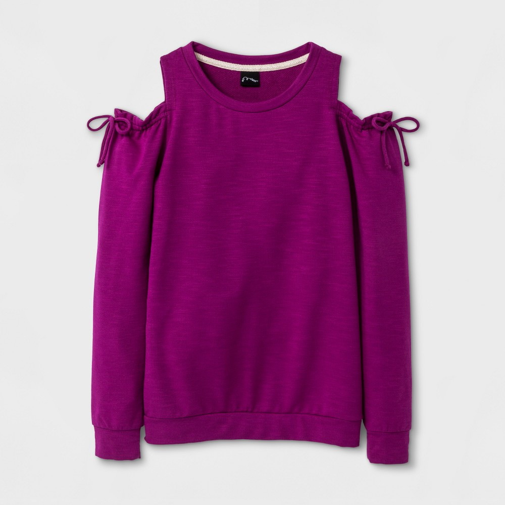 Girls Cold Shoulder Pullover - Art Class Rose (Pink) XL