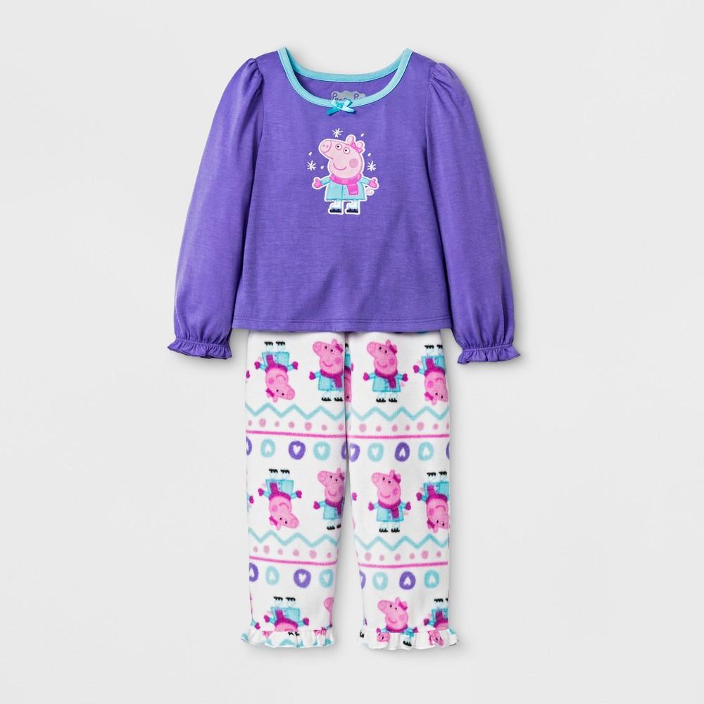 Pajama Set Peppa Pig Purple 4T, Toddler Girls