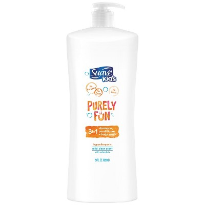 Suave Kids Purely Fun 3in1 Moisturizing Shampoo + Conditioner + Body Wash - 28 fl oz