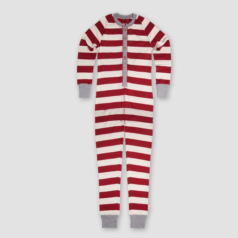 Burts Bees Kids Organic Cotton Rugby Stripe Pajama Set - Cranberry S, Kids Unisex, Pink