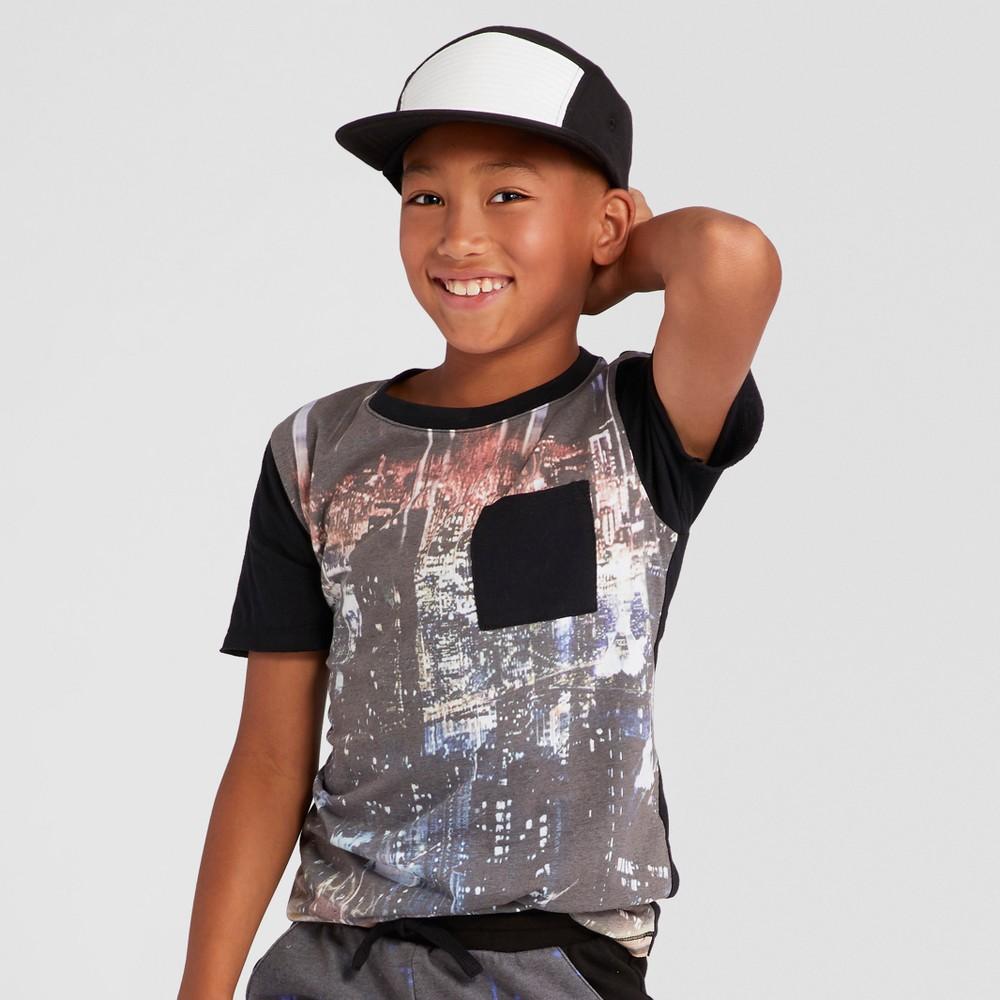 Boys Cityscape Short Sleeve T-Shirt - Art Class Black L