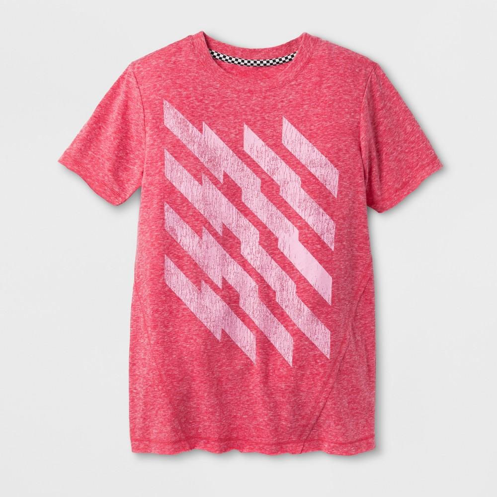Boys Zigzag Graphic Short Sleeve T-Shirt - Art Class Pink M, Red