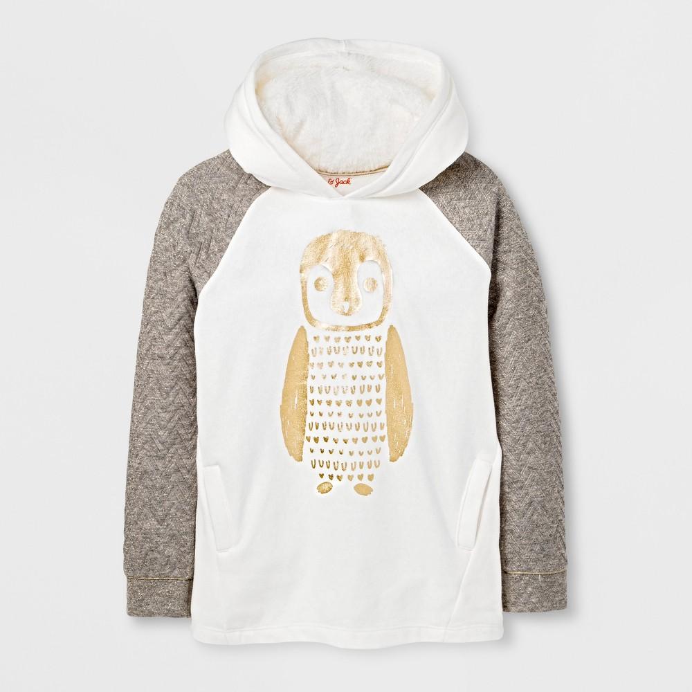 Girls Pullover Sweatshirt - Cat & Jack Cream XS, White