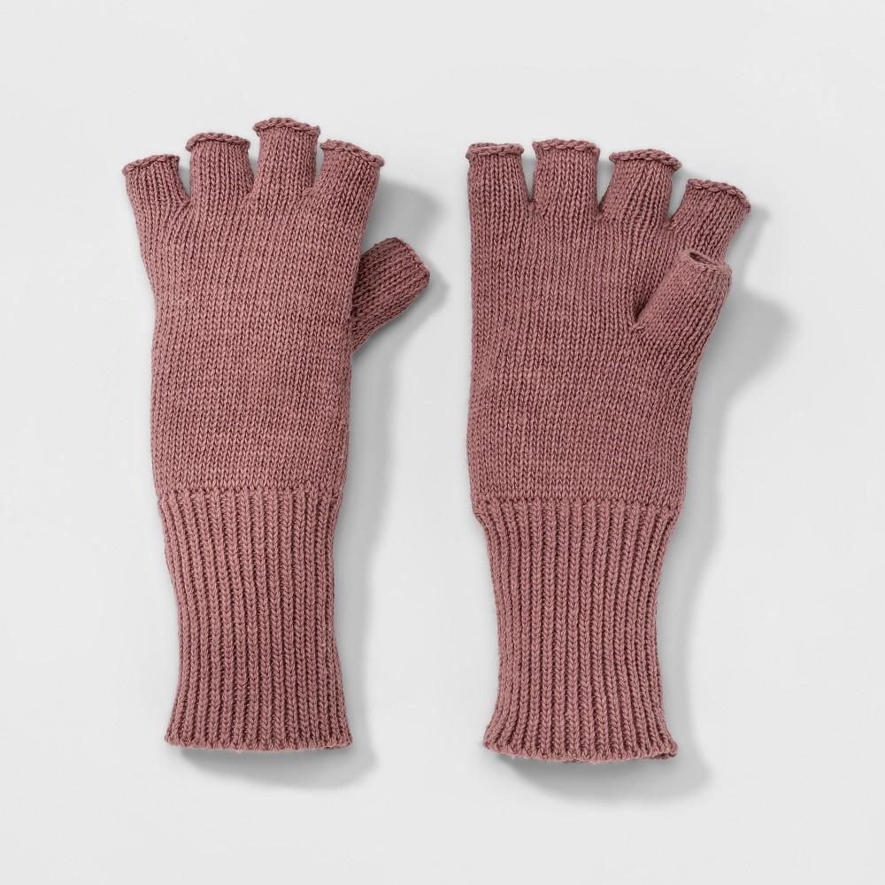 Womens Fingerless Knit Glove - A New Day Rose (Pink)