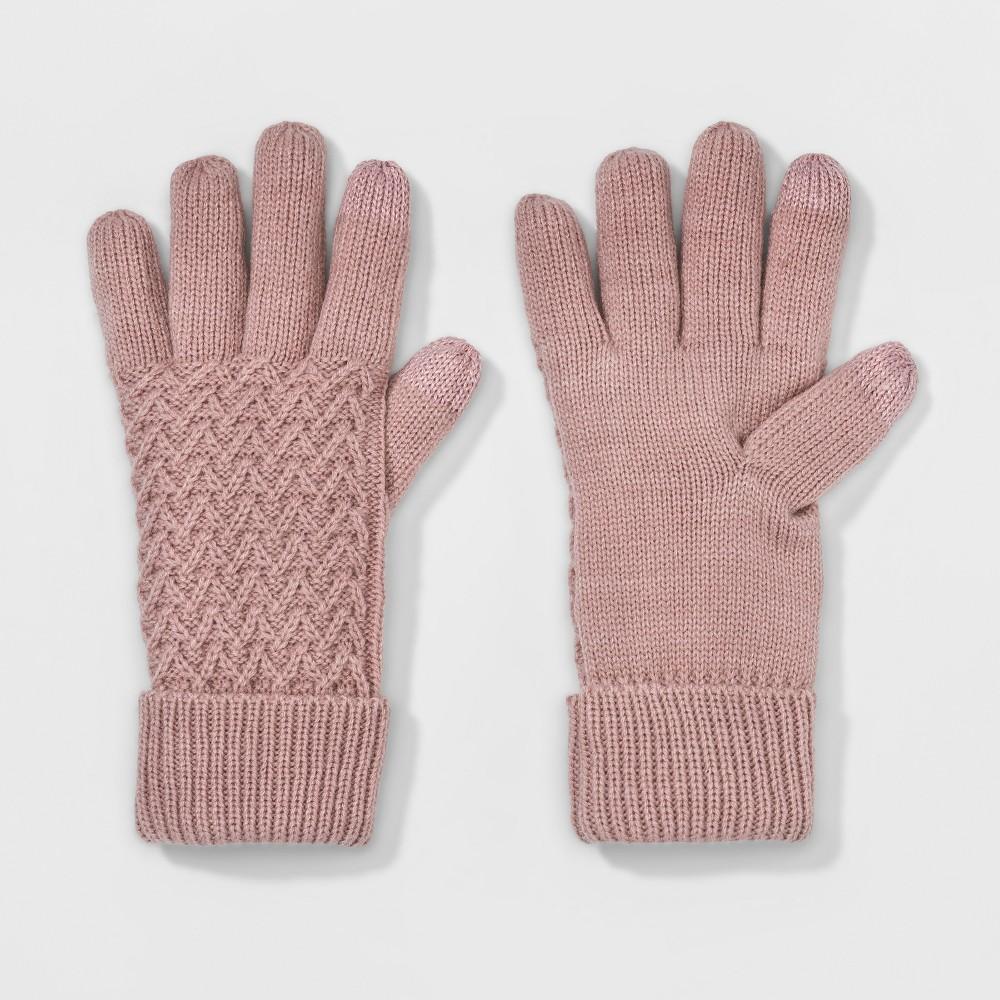 Womens Cuffed Knit Glove - A New Day Pink