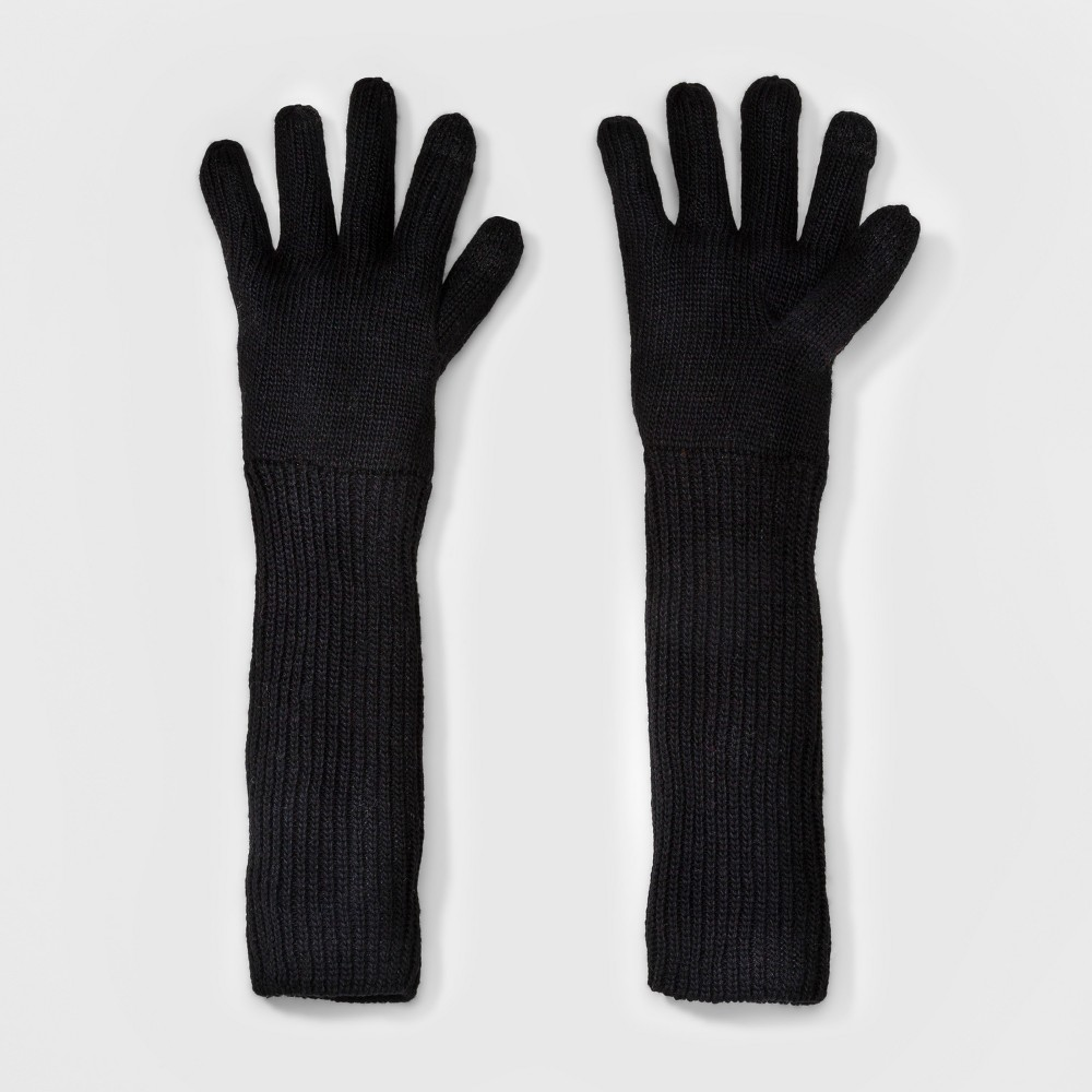 Womens Long Knit Glove - A New Day Black