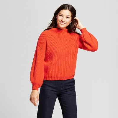 view Women's Bishop Sleeve Pullover - A New Day on target.com. Opens in a new tab.