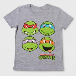 Toddler Boys' Nickelodeon Teenage Mutant Ninja Turtles Short Sleeve T-Shirt - Heather Gray