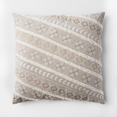 Neutral Stripe Throw Pillow - Threshold