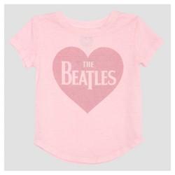 Toddler Girls' The Beatles Cap Sleeve T-Shirt - Light Pink