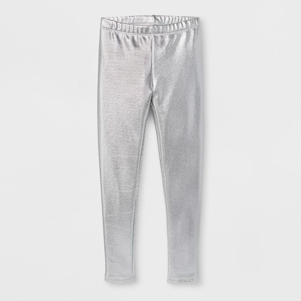 Plus Size Girls Core Plus Leggings - Cat & Jack Silver L