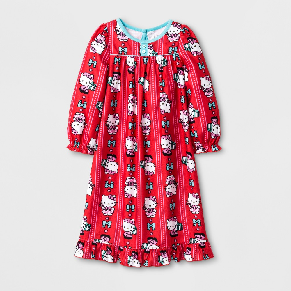 Nightgowns Hello Kitty Hello Kitty 2T Red, Toddler Girls