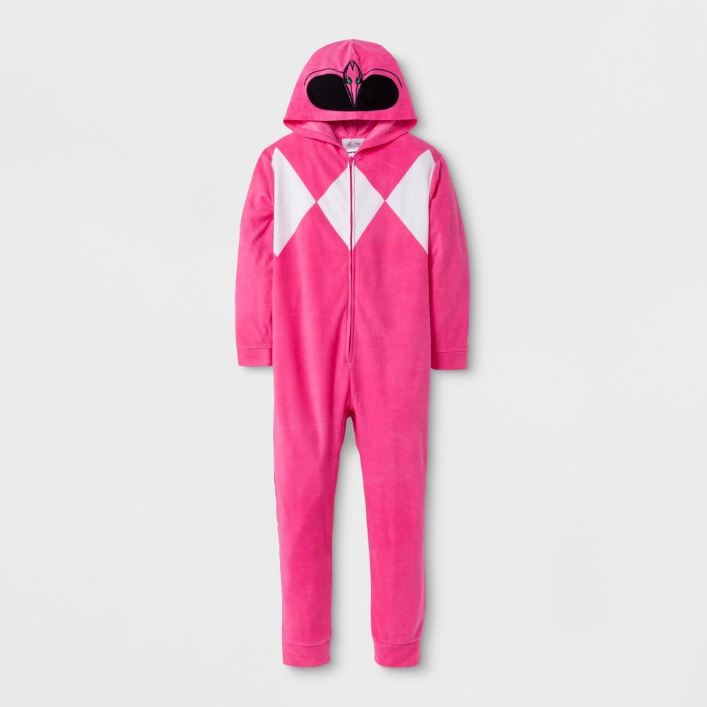 Girls' Power Rangers Footed Sleeper - Pink S